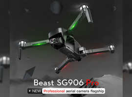 SG906 PRO Smart  Brushless Quadcopter Drone 4K camera with Gimbal GPS return home 2 Batteries