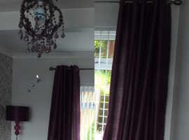 Plum curtains 90 x 90 Spinning Wheel