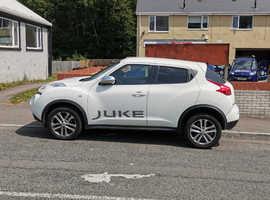 Nissan Juke, 2012 (12) white hatchback, Manual Diesel, 99,000 miles