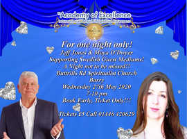 Evening of mediumship with Jeff jones & Moyà O'Dwyer and students