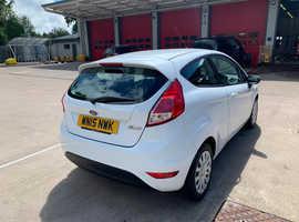Ford Fiesta, 2015 (15) White Hatchback, Manual Petrol, 37,000 miles