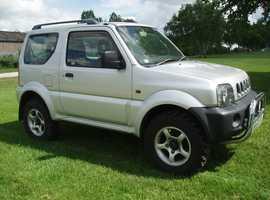 (BARGAIN 4X4) SUZUKI JIMNY 1.3 JLX 3 DOOR 4WD JEEP RARE FULL BLACK LEATHER TRIM LONG MOT 2003 53 REG £1499