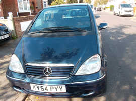 Mercedes A170 CDi, 2004 (54) 2 Owners Atoll Blue  Manual Diesel 100000 miles Full S/History