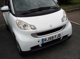 Smart Fortwo Coupe, 2009 (59) White Coupe, Automatic Petrol, 52,600 miles