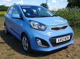 Kia Picanto, 2012 Blue Hatchback, Manual Petrol, 36,375 miles - Category S repaired