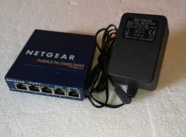 NETGEAR Prosafe 5 port GIGABIT Switch GS105 v4