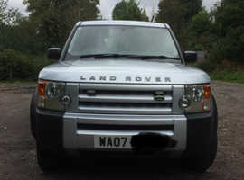 Land Rover Discovery, 2007 (07) Silver Estate, Manual Diesel, 161,000 miles