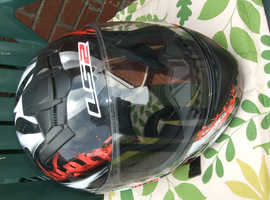 Wolf full face motorcycle helmet size medium very good condition
