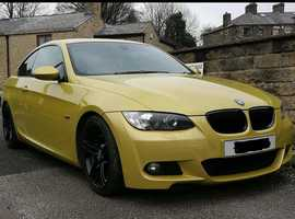 BMW 3 Series, 2007 (57) Yellow Coupe, Manual Diesel, 137,000 miles
