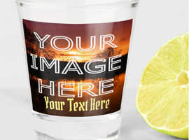 Custom Printed Photo Shot Glass