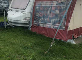 Sold. 4 berth caravan with awning
