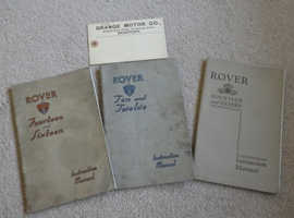 ROVER INSTRUCTION BOOKLET;  VERY RARE IN THIS CONDITION