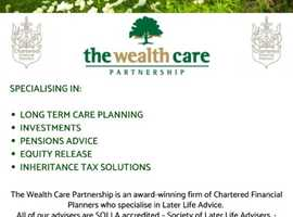 Chartered Independent Financial Adviser Firm - Specialising in Long Term Care Planning, Pensions Advice, Investment Planning, Equity Release and Inher