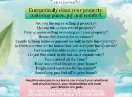 Energetically clean your property, restoring peace, joy and comfort.
