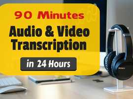 Accurately Transcribe Audio/Video - Fast 24 Hour Transcription