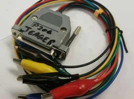 PEUGEOT 206 JEAGER DASH CABLE SET WITH ALLIGATOR CLIPS DASH FIXER DIGA TACHO PRO