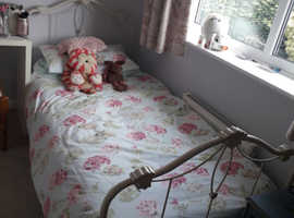 Girls Laura Ashley bed and mattress