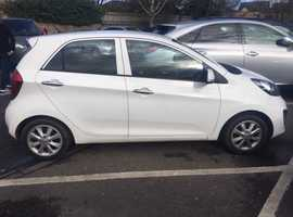 2012 Kia Picanto Ecodynamic in white, 2.2 petrol, MOT, perfect condition inside and outside