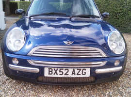 Mini MINI, 2002 (52) Blue Hatchback, Manual Petrol, 103,000 miles