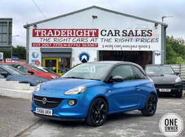 2016/66 Vauxhall Adam 1.2 Energised finished in Electric Blue Metallic. 23,587 miles
