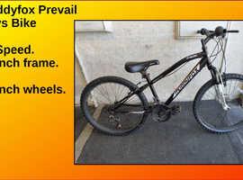 Muddyfox Prevail Boys Bike. 18 speed. 24 inch Wheels.