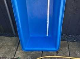 Large blue koi measuring bowl