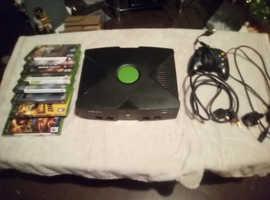 Xbox original console and games
