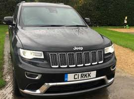 Jeep Grand Cherokee, 2016 (66) black estate, Automatic Diesel, 15,300 miles