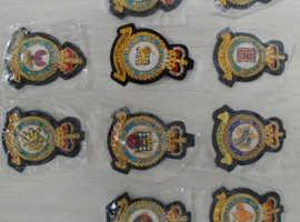 RAF Station Blazer Badges