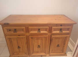 Solid Wood Mexican Rustic Pine Low Level Dresser