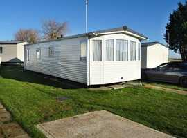 Private sale static caravan sited at Steeple Bay, Essex (near Maldon)