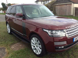 Land Rover Range Rover, 2017 (17) Red Estate, Automatic Diesel, 49,700 miles