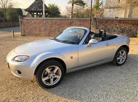 Mazda MX-5, 2006 (06) Silver Convertible, Manual Petrol, 66,230 miles beautiful condition new mot, service history full spec
