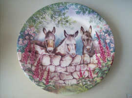 Collectable Fenton Bone China Donkeys
