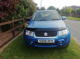 Suzuki Grand Vitara, 2008 (08) Blue Estate, Manual Petrol, 54,375 miles