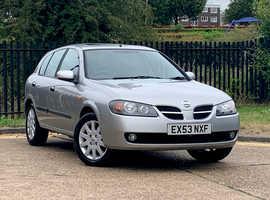 Nissan Almera 1.5 SVE, 2003 (53) Silver Hatchback, Manual Petrol, NEW MOT, SAT NAV