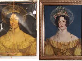 Oil painting restoration.