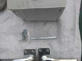 5 No Pairs of Aluminium Lever Latch Door Handles + Other Ironmongery *Unused*