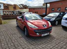 Peugeot 207, 2007 (07) Red Coupe, Manual Diesel, 158,302 miles