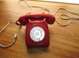 Original 1970s red dial telephone