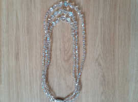 Vintage 1950s crystal bead necklace
