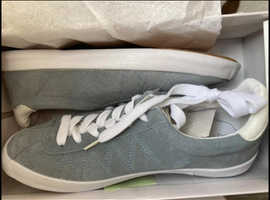 Summer blue suede shoes
