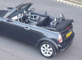 Mini MINI, 2004 (04) Black Convertible, Manual Petrol, 99,000 miles