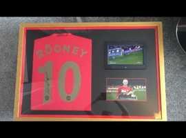 Framed Rooney Man Utd Shirt RARE with PROOF MANCHESTER UNITED MEMORABILIA