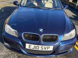 BMW 3 Series, 2010 (10) Blue Saloon, Manual Petrol, 80,808 miles