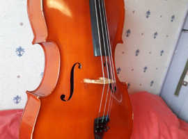 OLD solid Cello 4/4 (full sized) Andreas Zeller. Made in Rumania for Stentor music Co LTD.