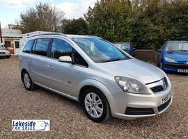 Vauxhall Zafira 1.9 Litre Diesel 5 Door 7 Seater MPV, Only 2 Owners, Long MOT, Clean Condition