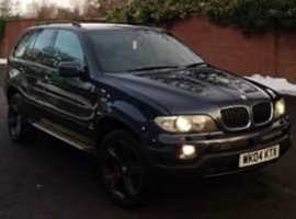 BMW X5, 2004 (04) Blue Estate, Automatic Diesel, 168,851 miles