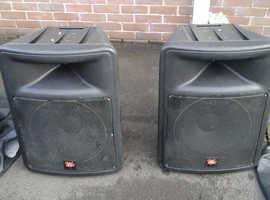 Pair of peavey impulse 500 speakers  and pv 2600 amp