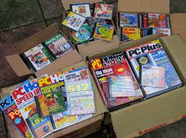Computer magazines and Discs